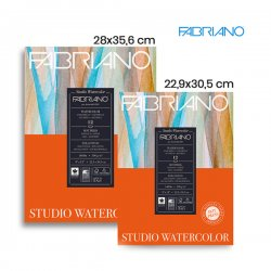 Fabriano - Fabriano Studio Watercolor Hot Pressed Sulu Boya Blok 300g 12 Yaprak