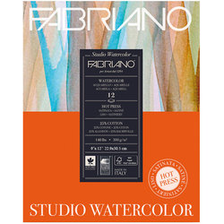 Fabriano - Fabriano Studio Watercolor Hot Pressed Sulu Boya Blok 300g 12 Yaprak (1)