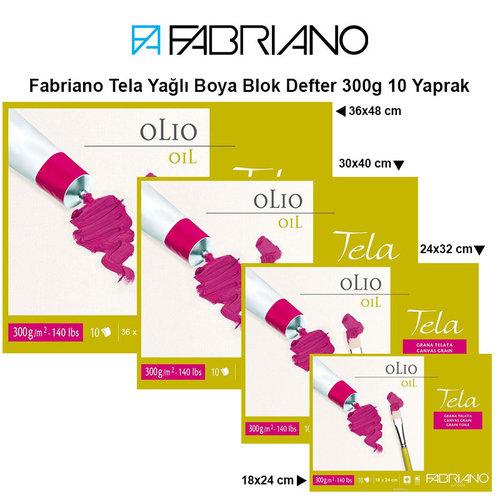 Fabriano Tela Yağlı Boya Blok Defter 300g 10 Yaprak