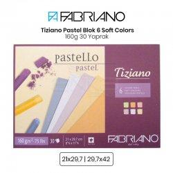 Fabriano - Fabriano Tiziano Pastel Blok 6 Soft Colors 160g 30 Sayfa