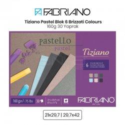 Fabriano - Fabriano Tiziano Pastel Blok 6 Brizzati Colours 160g 30 Sayfa