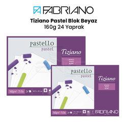 Fabriano - Fabriano Tiziano Pastel Blok Beyaz 160g 24 Yaprak