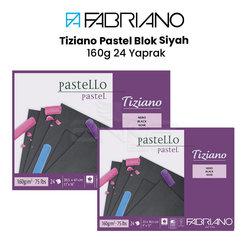 Fabriano - Fabriano Tiziano Pastel Blok Siyah 160g 24 Yaprak