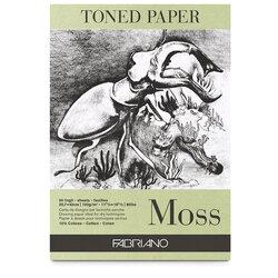 Fabriano - Fabriano Toned Paper Çizim Defteri 120g 50 Yaprak 21x29.7cm Moss