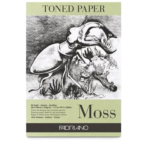 Fabriano Toned Paper Çizim Defteri 120g 50 Yaprak 21x29.7cm Moss