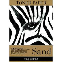 Fabriano - Fabriano Toned Paper Çizim Defteri 120g 50 Yaprak 21x29.7cm Sand