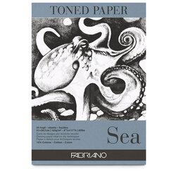Fabriano - Fabriano Toned Paper Çizim Defteri 120g 50 Yaprak 21x29.7cm Sea