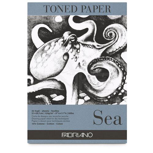 Fabriano Toned Paper Çizim Defteri 120g 50 Yaprak 21x29.7cm Sea