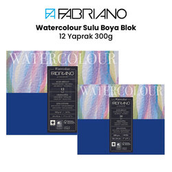 Fabriano - Fabriano Watercolour Sulu Boya Blok 12 Yaprak 300g