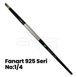 Fanart 925 Seri Kesik Yuvarlak (Geyik Ayağı) Uçlu Fırça - Thumbnail