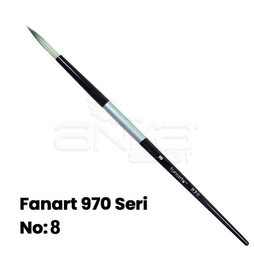 Fanart 970 Seri Yuvarlak Uçlu Fırça