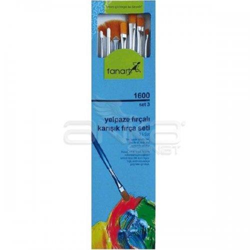 Fanart Academy Seri 1600 Karışık Fırça Seti No:3 7li