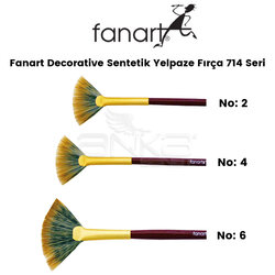 Fanart - Fanart Decorative Sentetik Yelpaze Fırça 714 Seri