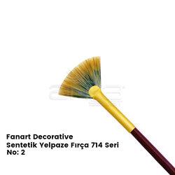 Fanart - Fanart Decorative Sentetik Yelpaze Fırça 714 Seri (1)