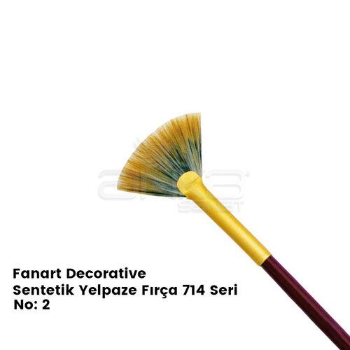 Fanart Decorative Sentetik Yelpaze Fırça 714 Seri