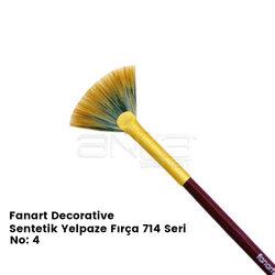 Fanart Decorative Sentetik Yelpaze Fırça 714 Seri - Thumbnail