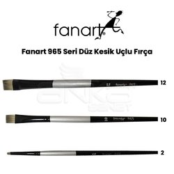 Fanart - Fanart 965 Seri Düz Kesik Uçlu Fırça