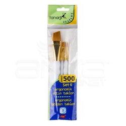 Fanart - Fanart Ergonomik Altın Taklon Fırça Seti 500 Seri 3lü Set 6