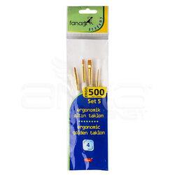 Fanart - Fanart Ergonomik Altın Taklon Fırça Seti 500 Seri 4lü Set 5