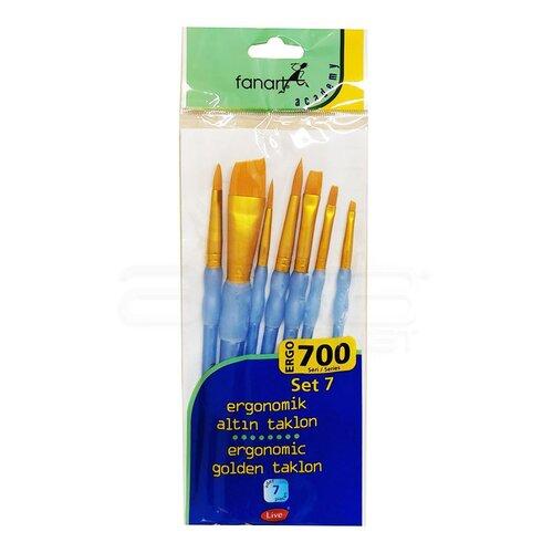 Fanart Ergonomik Altın Taklon Fırça Seti 700 Seri 7li Set 7