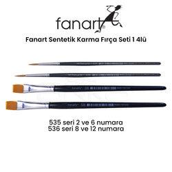 Fanart - Fanart Sentetik Karma Fırça Seti 1 4lü