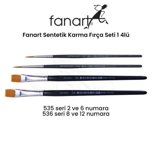 Fanart Sentetik Karma Fırça Seti 1 4lü