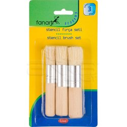 Fanart - Fanart Stencil Fırça Seti 3lü
