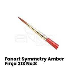 Fanart - Fanart Symmetry Amber Yuvarlak Uçlu Sentetik Fırça 313 (1)