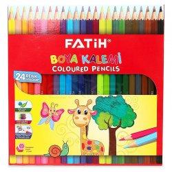 Fatih Kuru Boya Kalemi Tam Boy 24 Renk - Thumbnail