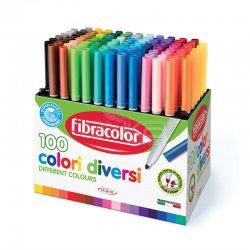 Eberhard Faber - Fibracolor Keçeli Kalem Colori Diversi 100 Renk