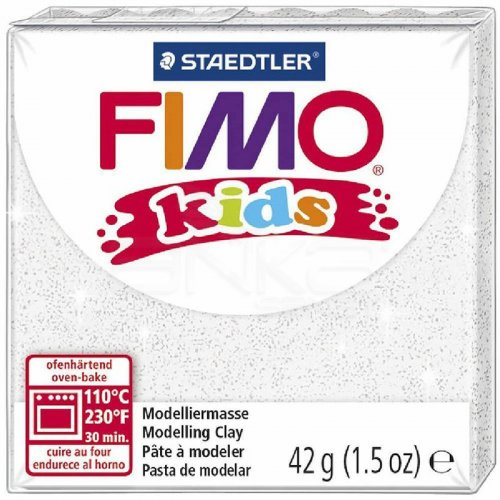 Fimo Kids Polimer Kil 42g No:052 Yaldızlı Beyaz