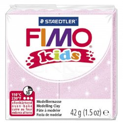 Fimo - Fimo Kids Polimer Kil 42g No:206 Sedefli Açık Pembe