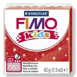 Fimo - Fimo Kids Polimer Kil 42g No:212 Yaldızlı Kırmızı