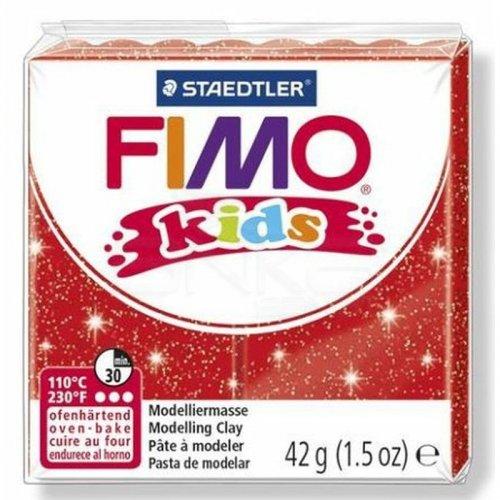 Fimo Kids Polimer Kil 42g No:212 Yaldızlı Kırmızı