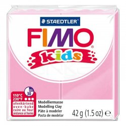 Fimo - Fimo Kids Polimer Kil 42g No:25 Açık Pembe