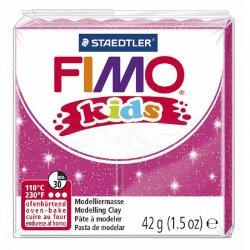 Fimo - Fimo Kids Polimer Kil 42g No:262 Yaldızlı Fuşya