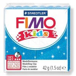 Fimo - Fimo Kids Polimer Kil 42g No:312 Yaldızlı Mavi