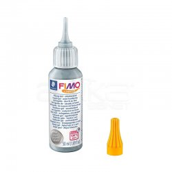 Fimo - Fimo Liquid Gel Gümüş 50ml 8050-81 (1)