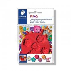 Fimo - Fimo Silikon Desen Kalıbı Çiçekler 8725 22