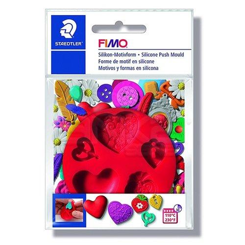 Fimo Silikon Desen Kalıbı Kalpler 872523