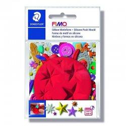 Fimo - Fimo Silikon Desen Kalıbı Yıldızlar 8725 20