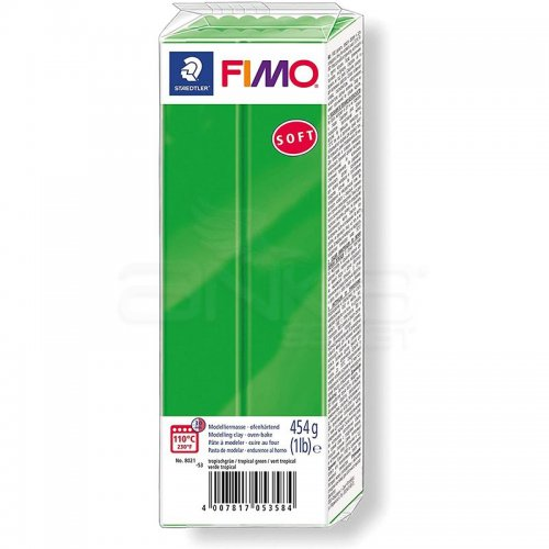 Fimo Soft Polimer Kil 454g No:53 Tropical Green