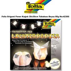 Folia - Folia Origami Fener Kağıdı 30x30cm Tabakası Beyaz 80g No:42300