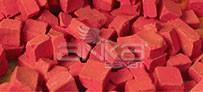 Folia - Folia Transparan Mozaik 10x10mm 190 Adet Kırmızı 57220