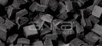 Folia - Folia Transparan Mozaik 10x10mm 190 Adet Siyah 57290
