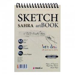 Folix Art Sahra Sketch Art Book Spiralli Çizim Defteri 90g - Thumbnail