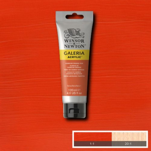 Galeria 120ml Akrilik Boya No:090 Cadmium Orange Hue - 090 Cadmium Orange Hue