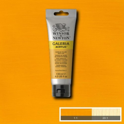 Galeria 120ml Akrilik Boya No:115 Cadmium Yellow Deep Hue - 115 Cadmium Yellow Deep Hue