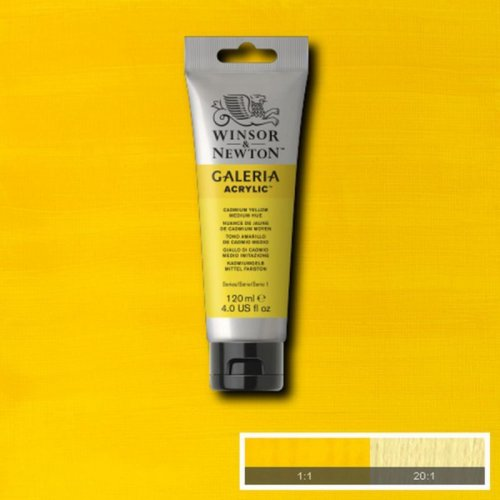Galeria 120ml Akrilik Boya No:120 Cadmium Yellow Medium Hue - 120 Cadmium Yellow Medium Hue