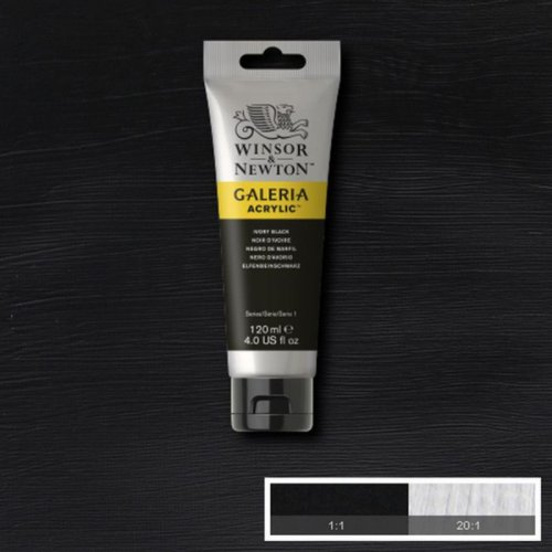 Galeria 120ml Akrilik Boya No:331 Ivory Black - 331 Ivory Black